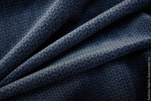 Шитье ручной работы. Ярмарка Мастеров - ручная работа. Купить Костюмный хлопковый велюр сине-черный 11118909 Италия Цена за метр. Handmade.
