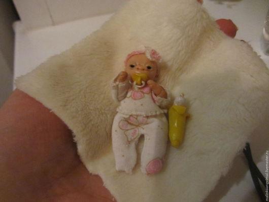 Коллекционные куклы ручной работы. Ярмарка Мастеров - ручная работа. Купить Мини обезьянка малютка Чичи. Handmade. Бежевый, младенец