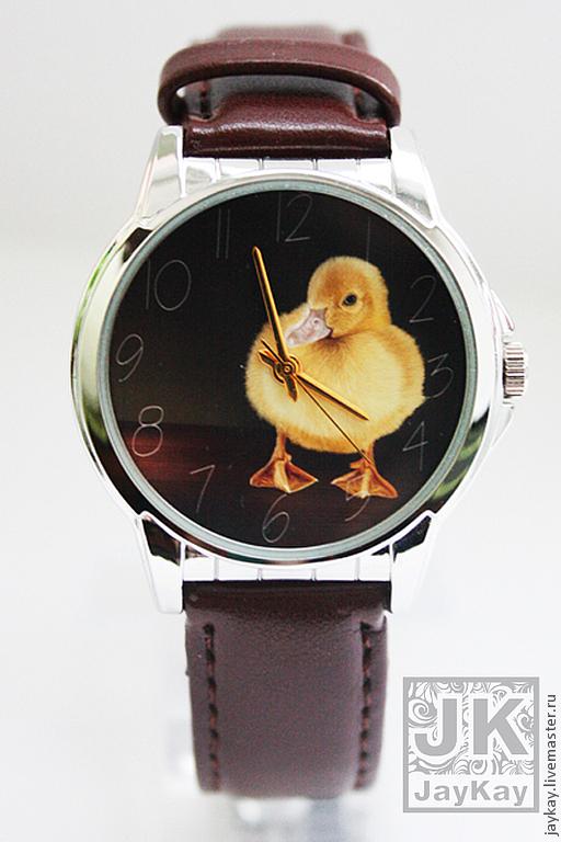 """Часы ручной работы. Ярмарка Мастеров - ручная работа. Купить Часы наручные JK """"Уточка"""". Handmade. Наручные часы, утка"""