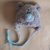 Работы для детей, ручной работы. Ярмарка Мастеров - ручная работа Шапочка мишка. Handmade.