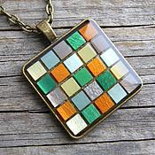 Украшения handmade. Livemaster - original item Pendant Mosaic yellow-green. Handmade.