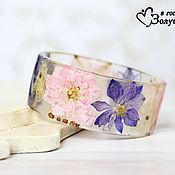 Украшения ручной работы. Ярмарка Мастеров - ручная работа Браслет Pink and Purple Larkspur. Handmade.