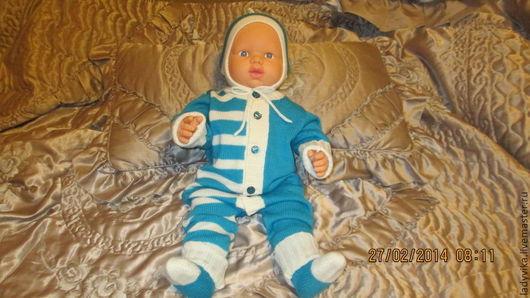 Одежда ручной работы. Ярмарка Мастеров - ручная работа. Купить Вязанный комплект для малыша  (002). Handmade. Вязанная одежда