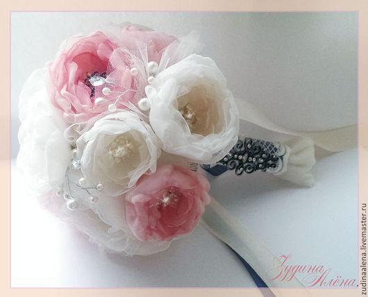 Букеты ручной работы. Ярмарка Мастеров - ручная работа. Купить Букет невесты Beautiful roses.. Handmade. Букет невесты, бежевый
