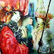 Картины и панно ручной работы. Ярмарка Мастеров - ручная работа Карнавал. Handmade.
