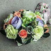Композиции ручной работы. Ярмарка Мастеров - ручная работа Интерьерная композиция «Очаровашка»,цветы в коробке,Интерьерные цветы. Handmade.