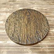 Посуда handmade. Livemaster - original item Round plaque with a relief. Handmade.