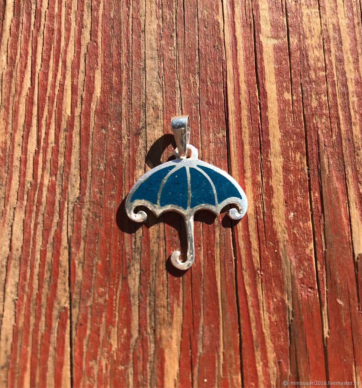 Кулон «возьми зонт», грузинская горячая эмаль (минанкари), Подвески, Москва, Фото №1