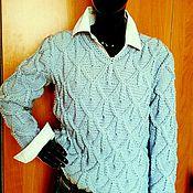 Одежда ручной работы. Ярмарка Мастеров - ручная работа Пуловер ДЖИНС. Handmade.