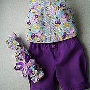 Куклы и игрушки ручной работы. Ярмарка Мастеров - ручная работа Кофточка и шорты для беби бон. Handmade.