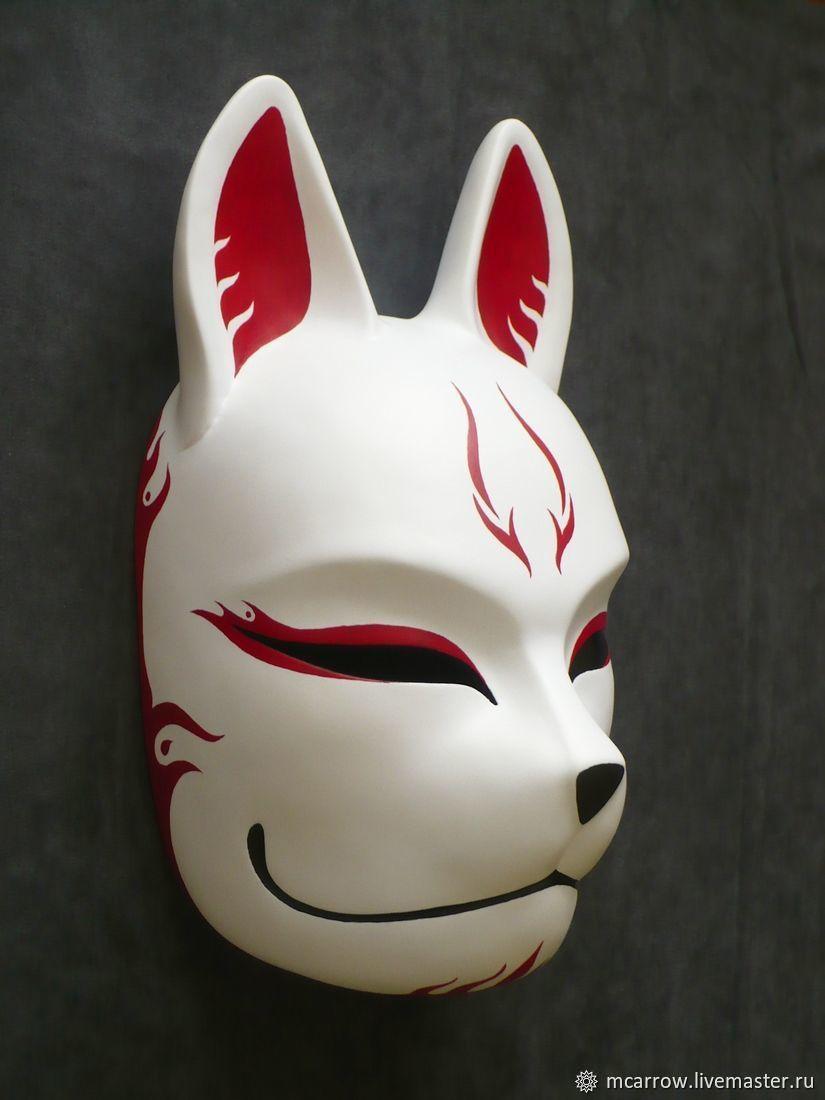 Картинки японских масок белого лиса