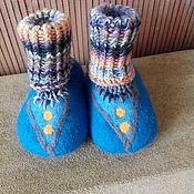 Работы для детей, ручной работы. Ярмарка Мастеров - ручная работа пинетки детские валяные Синенькие. Handmade.