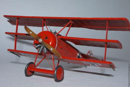 Подарки для мужчин, ручной работы. Ярмарка Мастеров - ручная работа. Купить Модель Fokker Dr.I (Манфред фон Рихтгофен, JG I, март 1918 г.). Handmade.
