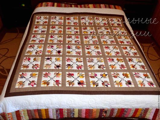 Текстиль, ковры ручной работы. Ярмарка Мастеров - ручная работа. Купить Лоскутное одеяло Листопад. Handmade. Одеяло пэчворк, одеяло