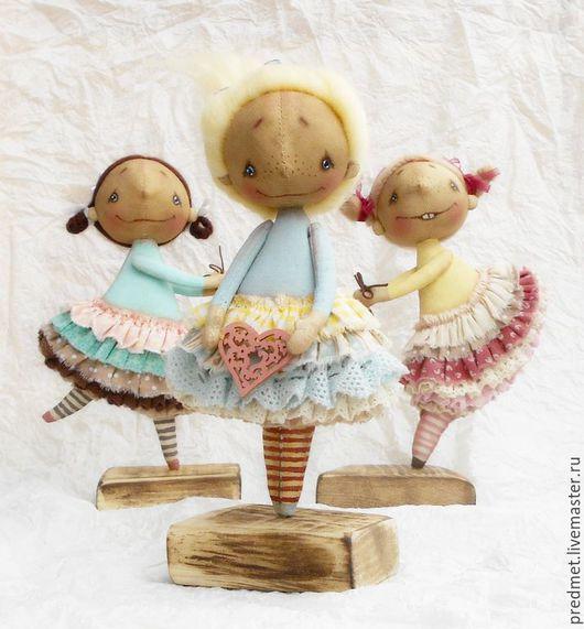 Коллекционные куклы ручной работы. Ярмарка Мастеров - ручная работа. Купить Три маленькие феечки. Handmade. Комбинированный, текстильная кукла