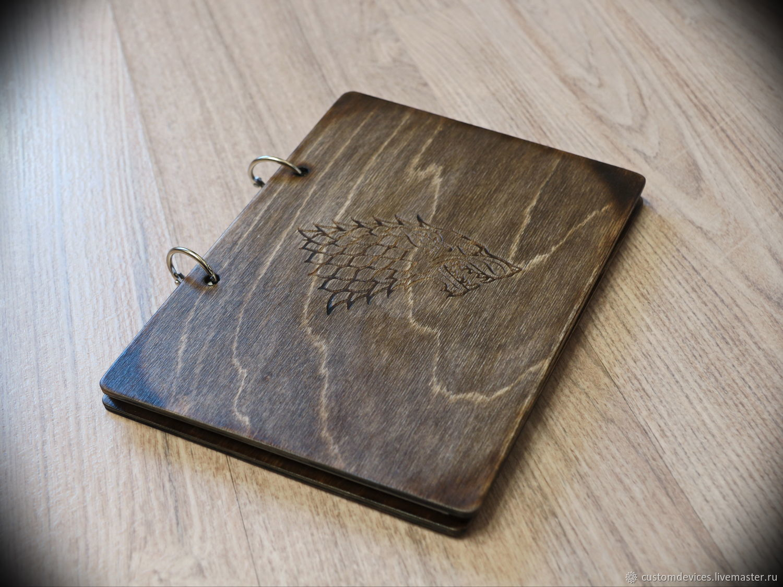 Sketchbook wooden 'Starkey' A5 format, Sketchbooks, Moscow,  Фото №1