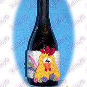 Материалы для творчества ручной работы. Ярмарка Мастеров - ручная работа Мастер-класс Петух на бутылку шампанского. Handmade.