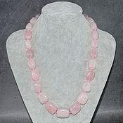 Украшения handmade. Livemaster - original item Large necklace natural rose Quartz. Handmade.
