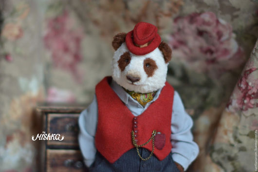 Мишки Тедди ручной работы. Ярмарка Мастеров - ручная работа. Купить Тихон. Handmade. Коричневый, мишка в одежке, подарок