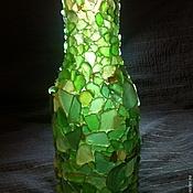 Для дома и интерьера ручной работы. Ярмарка Мастеров - ручная работа 2 в 1 ваза и светильник из стекла. Handmade.