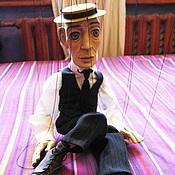 Куклы и пупсы ручной работы. Ярмарка Мастеров - ручная работа Марионетка Бастера Китона. Handmade.
