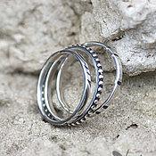 Украшения ручной работы. Ярмарка Мастеров - ручная работа Три небольших кольца из серебра размер 17-18. Handmade.