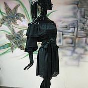 """Одежда ручной работы. Ярмарка Мастеров - ручная работа Платье из мягчайшей замши-стрейч """"Графитовая принцесса"""". Handmade."""