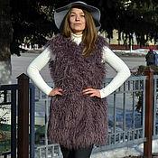 Одежда handmade. Livemaster - original item The faux fur vest under Lama. Handmade.