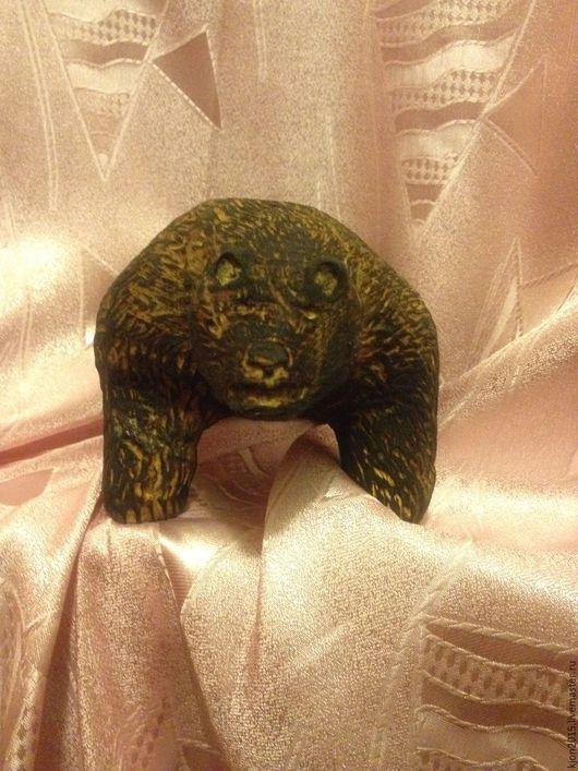 Статуэтки ручной работы. Ярмарка Мастеров - ручная работа. Купить Медведь. Handmade. Коричневый, сила, кедр