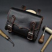 Поясная сумка ручной работы. Ярмарка Мастеров - ручная работа Поясная сумка  из натуральной кожи БР1. Handmade.