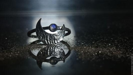 Кольца ручной работы. Ярмарка Мастеров - ручная работа. Купить Lunaris - кольцо из серебра с лунным камнем. Handmade. Фактурное кольцо