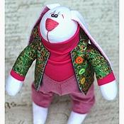 Куклы и игрушки ручной работы. Ярмарка Мастеров - ручная работа Заяц Тильда Павлин. Handmade.