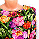 """Блузки ручной работы. Блузка из шелка с рукавом """"Тюльпаны"""". LADY SHRI (ОЛЬГА). Ярмарка Мастеров. Блузка из 100% шёлка"""