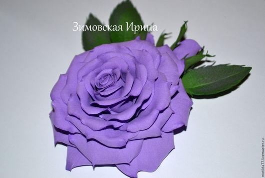 Броши ручной работы. Ярмарка Мастеров - ручная работа. Купить Роза из фоамирана.Брошь. Handmade. Розы, романтика, Аксессуары handmade