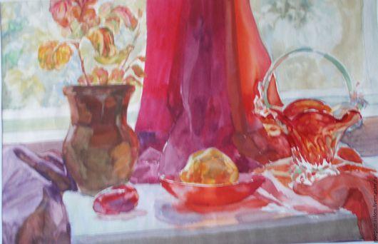 """Натюрморт ручной работы. Ярмарка Мастеров - ручная работа. Купить Акварель """"На окне"""". Handmade. Комбинированный, картина акварелью"""
