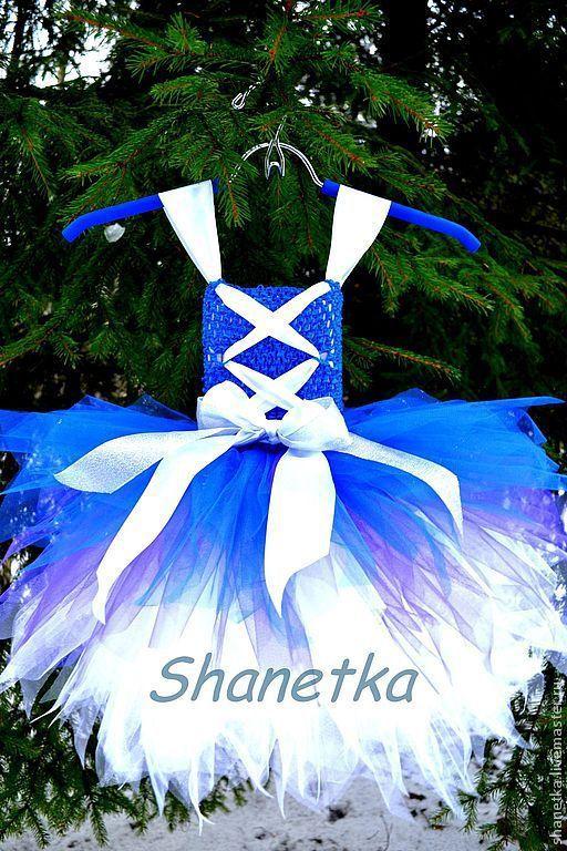 Одежда для девочек, ручной работы. Ярмарка Мастеров - ручная работа. Купить Пышное платье для девочки Синий 2014. Handmade.