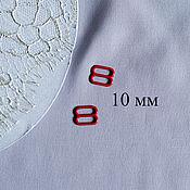 Фурнитура для шитья ручной работы. Ярмарка Мастеров - ручная работа Красный металлический регулятор бретели 10 мм. Handmade.
