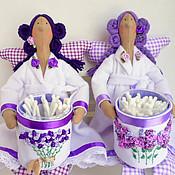 Куклы и игрушки ручной работы. Ярмарка Мастеров - ручная работа Банные ангелы:лаванда и сирень,тильда.. Handmade.
