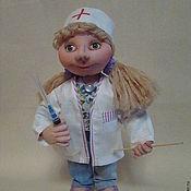 Куклы и игрушки ручной работы. Ярмарка Мастеров - ручная работа Кукла из капрона медицинская сестра.. Handmade.