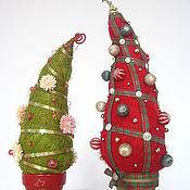 """Цветы и флористика ручной работы. Ярмарка Мастеров - ручная работа елочки из сизаля """"Новогодние"""". Handmade."""