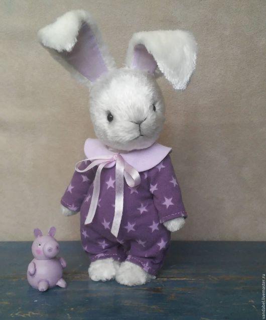 Мишки Тедди ручной работы. Ярмарка Мастеров - ручная работа. Купить Зайка тедди в пижамке.. Handmade. Белый, bunny