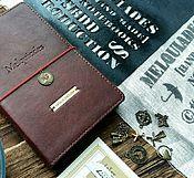 """Канцелярские товары ручной работы. Ярмарка Мастеров - ручная работа Блокнот для путешественника """"MELQUIADES"""". Handmade."""