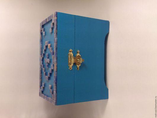 """Шкатулки ручной работы. Ярмарка Мастеров - ручная работа. Купить Шкатулка из дерева """"Мозаика"""". Handmade. Тёмно-синий, мозаика"""
