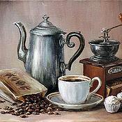 Картины и панно ручной работы. Ярмарка Мастеров - ручная работа Кофе. Handmade.