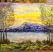Картины и панно handmade. Livemaster - original item Colorful landscape(oil,50h60,oil on canvas p-ke). Handmade.