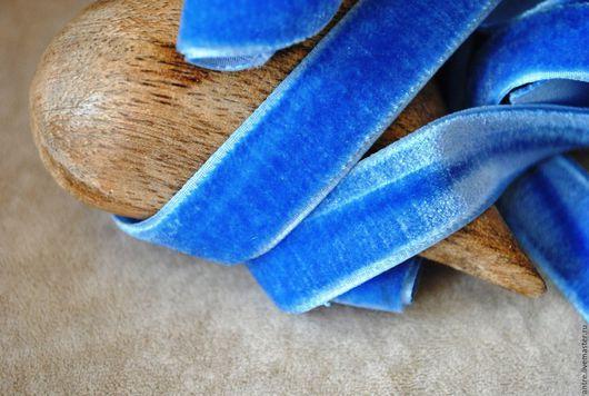 """Шитье ручной работы. Ярмарка Мастеров - ручная работа. Купить Бархатная лента """"Голубое небо"""" (Греция). Handmade. Лента"""