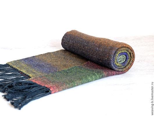 домотканый шарф, женский шарф, ткачество, палантин,шарф женский, тканый шарф, мужской шарф, шарф мужской, женский шарф, шарф тканый, ткачество на станке,подарок мужчине,подарок, норо, шарф