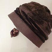 Аксессуары ручной работы. Ярмарка Мастеров - ручная работа шапка валяная коричневая. Handmade.