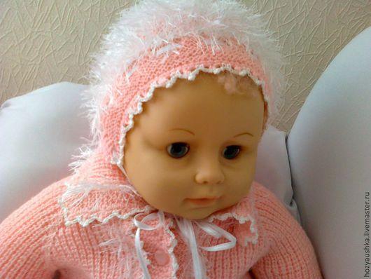 Для новорожденных, ручной работы. Ярмарка Мастеров - ручная работа. Купить костюмчик для девочки. Handmade. Розовый, одежда детская, новорожденным