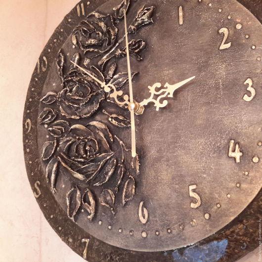 Часы для дома ручной работы. Ярмарка Мастеров - ручная работа. Купить часы Винтажные розы. Handmade. Золотой, подарок, интерьер